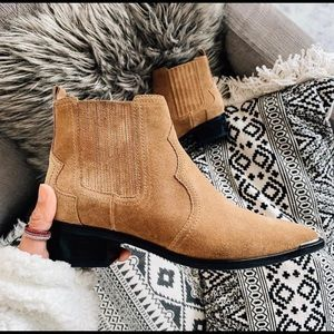 Marc Fisher yohani suede ankle boots